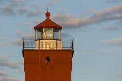 Tour de phare de deux ports image stock