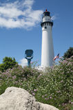 Tour de phare, Racine, WI images stock