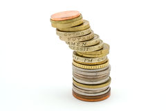 Tour de pièce de monnaie image libre de droits
