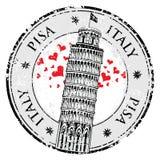 Tour de Pise de timbre en Italie, Photo stock