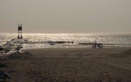 Tour de plage de matin Images stock