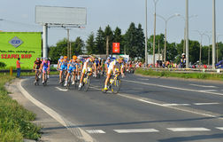 Tour de Pologne. Cyclists during Stage 1 of the 67.Tour de Pologne - from Sochaczew to Warsaw. Photo taken on: August 1, 2010 in Warsaw, Poland Stock Photography