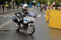 Tour de Pologne 2011 - Policeman Royalty Free Stock Photo
