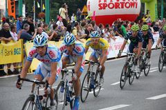 Tour de Pologne bicycle race Stock Photos