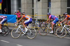Tour de Pologne cyclists Royalty Free Stock Photography