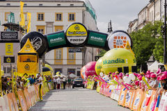 Tour de Pologne 2014, finish point. Stock Images