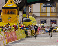 Tour de Pologne 2014, finish point. Royalty Free Stock Photography