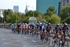 Tour de Pologne 2015 road bicycle race, Warsaw Royalty Free Stock Photo