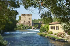 Tour de pont de Visconteo Images libres de droits