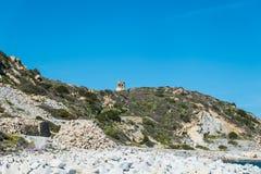 Tour de Porto Giunco, Cava di Usai, Villasimius, Cagliari, Sardaigne, Italie image stock