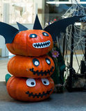 Tour de potirons de Halloween Image libre de droits