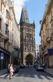 tour de Prague de poudre photo libre de droits
