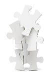 Tour de puzzles denteux Images libres de droits
