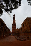 Tour de Qutb Minar delhi l'Inde Images stock