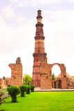 Tour de Qutub-Minar, Delhi, Inde photo libre de droits