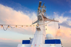 Tour de radar de bateau Photographie stock