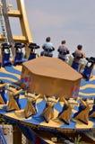 Tour de roue de parc de divertissement image stock
