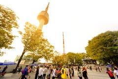 Tour de Séoul de parc de Namsan : Corée Photos stock