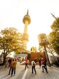 Tour de Séoul de parc de Namsan : Corée Images libres de droits