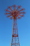 Tour de saut de parachute - point de repère célèbre de Coney Island à Brooklyn Photos libres de droits