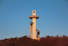 Tour de sauter de ski pour les Jeux Olympiques d'hiver de Pyeongchang photo stock