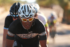 2012 Tour de Scottsdale cycling race. SCOTTSDALE, AZ - OCTOBER 14: Cyclists compete in the 9th annual Tour de Scottsdale, a 70-mile charity bicycle race stock photo