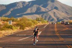 2012 Tour de Scottsdale cycling race. SCOTTSDALE, AZ - OCTOBER 14: Cyclists compete in the 9th annual Tour de Scottsdale, a 70-mile charity bicycle race stock image