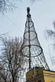 Tour de Shukhovsky sur Shabolovka à Moscou Images libres de droits