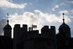 Tour de silhouette de Londres Photographie stock libre de droits