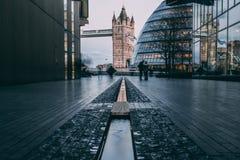 Tour de soirée de longue exposition de Londres Photographie stock libre de droits