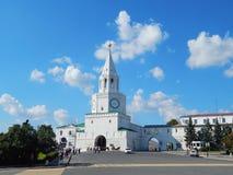 Tour de Spasskaya de Kazan Kremlin dans la république Tatarstan en Russie Images stock