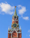 Tour de Spasskaya de Moscou Kremlin photos stock
