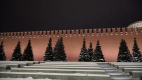 Tour de Spasskaya de Kremlin, vue de nuit Moscou, Russie banque de vidéos