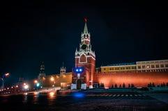 Tour de Spasskaya de Moscou Kremlin images libres de droits