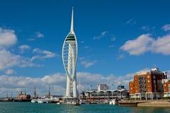 Tour de spinnaker, Portsmouth, Angleterre Image libre de droits