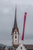 Tour de St Jakob Church Zurich Switzerland Clock d'Offener Photos libres de droits