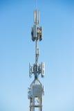 Tour de télécommunication de satellite mobile Photos libres de droits