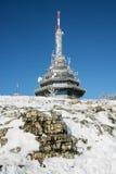 Tour de télécommunication sur la colline de Zobor près de la ville de Nitra dans la victoire Image libre de droits