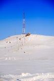 Tour de télévision en hiver Photo libre de droits