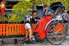 Tour de taxi de pousse-pousse Images stock