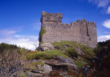 Tour de Tioram de château, Moidart, Ecosse Images libres de droits