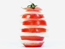 Tour de tomate et de mozzarella Photographie stock libre de droits
