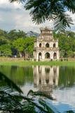 Tour de tortue Thap Rua dans le lac sword de lac Hoan Kiem, Ho Guom à Hanoï, Vietnam Photo libre de droits