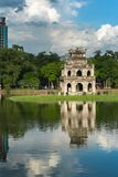 Tour de tortue Thap Rua dans le lac sword de lac Hoan Kiem, Ho Guom à Hanoï, Vietnam Photographie stock