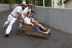 Tour de traîneau de Funchal Image libre de droits