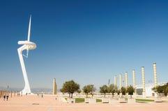 Tour de transmissions à Barcelone photos stock