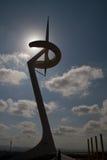 Tour de transmissions de Montjuic Contre-Jour Photographie stock libre de droits