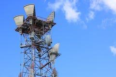 Tour de transmissions sans fil Photos libres de droits