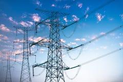Tour de transport d'énergie Images libres de droits