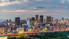 Tour de Tsutenkaku en Osaka Japan banque de vidéos
